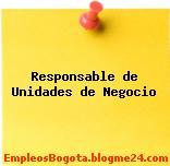 Responsable de Unidades de Negocio