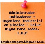 Administrador Indicadores – Ingeniero Industrial en Sinaloa – Salud Digna Para Todos, I.A.P