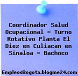 Coordinador Salud Ocupacional – Turno Rotativo Planta El Diez en Culiacan en Sinaloa – Bachoco
