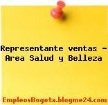 Representante ventas Area Salud y Belleza