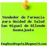 Vendedor de Farmacia para Unidad de Salud San Miguel de Allende Guanajuato