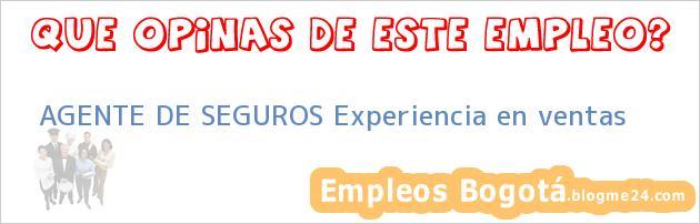 AGENTE DE SEGUROS Experiencia en ventas