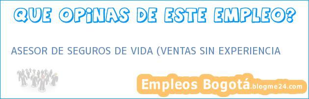 ASESOR DE SEGUROS DE VIDA (VENTAS SIN EXPERIENCIA