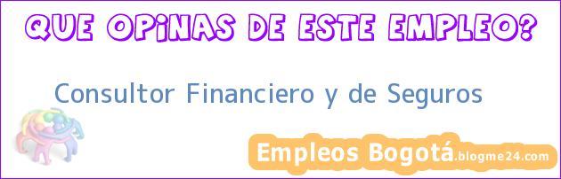 Consultor Financiero y de Seguros