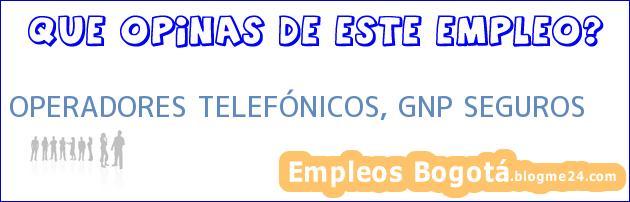 OPERADORES TELEFÓNICOS, GNP SEGUROS