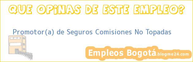 Promotor(a) de Seguros Comisiones No Topadas