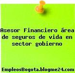 Asesor Financiero área de seguros de vida en sector gobierno