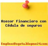 Asesor Financiero con Cédula de seguros