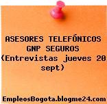 ASESORES TELEFÓNICOS GNP SEGUROS (Entrevistas jueves 20 sept)