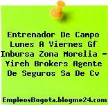 Entrenador De Campo Lunes A Viernes Gf Inbursa Zona Morelia – Yireh Brokers Agente De Seguros Sa De Cv