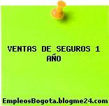 VENTAS DE SEGUROS 1 AÑO