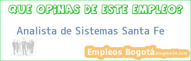 Analista de Sistemas Santa Fe