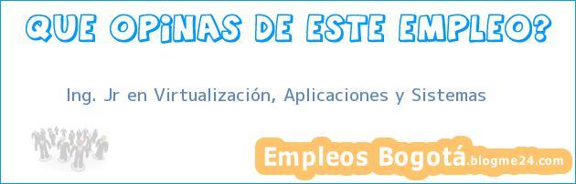 Ing. Jr en Virtualización, Aplicaciones y Sistemas