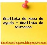 Analista de mesa de ayuda – Analista de Sistemas