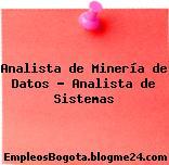 Analista de Minería de Datos – Analista de Sistemas