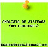 ANALISTA DE SISTEMAS (APLICACIONES)