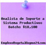 Analista de Soporte a Sistema Productivos Batchs $18,100