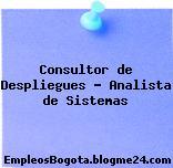 Consultor de Despliegues – Analista de Sistemas