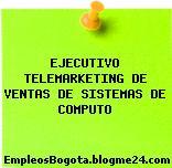 EJECUTIVO TELEMARKETING DE VENTAS DE SISTEMAS DE COMPUTO