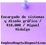 Encargado de sistemas y diseño gráfico / $10,000 / Miguel Hidalgo