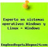 Experto en sistemas operativos Windows y Linux – Windows