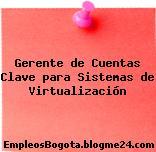 Gerente de Cuentas Clave para Sistemas de Virtualización