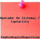Operador De Sistemas / Capturista