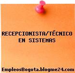 RECEPCIONISTA/TÉCNICO EN SISTEMAS