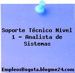 Soporte Técnico Nivel 1 – Analista de Sistemas