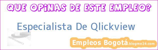 Especialista De Qlickview