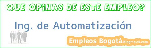 Ing. de Automatización