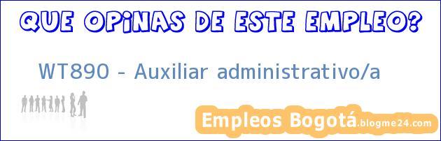 WT890 – Auxiliar administrativo/a