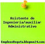Asistente de Ingenieria/auxiliar Administrativo