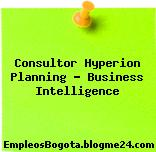 Consultor Hyperion Planning – Business Intelligence