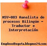 MSV-883 Aanalista de procesos Bilingüe – Traductor e Interpretación