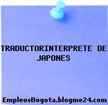 TRADUCTORINTERPRETE DE JAPONES