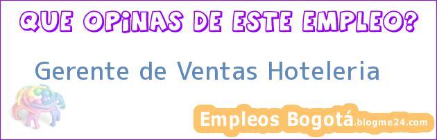 Gerente de Ventas – Hoteleria