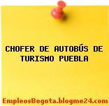 CHOFER DE AUTOBÚS DE TURISMO PUEBLA