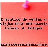 Ejecutivo de ventas y viajes BEST DAY Santin Toluca, W. Metepec