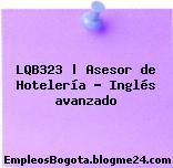 LQB323 | Asesor de Hotelería – Inglés avanzado