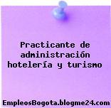 Practicante de administración hotelería y turismo