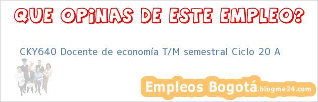 CKY640 Docente de economía T/M semestral Ciclo 20 A