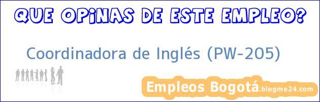 Coordinadora de Inglés (PW-205)