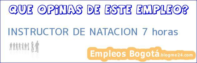 INSTRUCTOR DE NATACION 7 horas