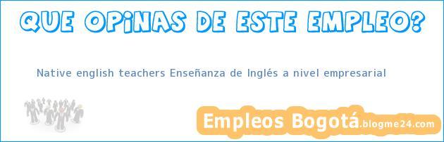 Native English Teachers – Enseñanza De Inglés A Nivel Empresarial