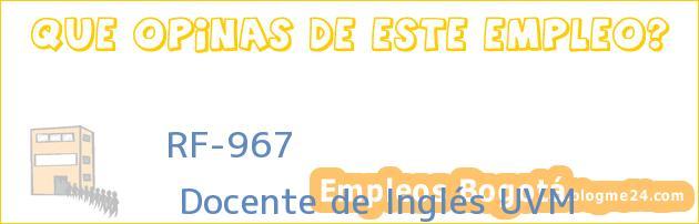 RF-967 | Docente de Inglés UVM