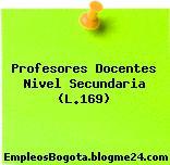 Profesores Docentes Nivel Secundaria (L.169)