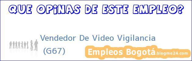 Vendedor De Video Vigilancia | (G67)