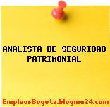 ANALISTA DE SEGURIDAD PATRIMONIAL