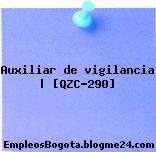Auxiliar de vigilancia | [QZC-290]
